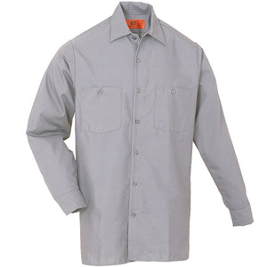 Reed SoftTouch POPLIN WORK SHIRT LONG SLEEVE LIGHT GREY LS6234