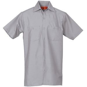 REED SOFT TOUCH POPLIN WORK SHIRT SHORT SLEEVE LIGHT GREYV SS634