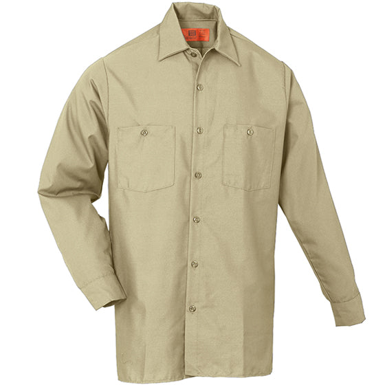 Reed SoftTouch POPLIN WORK SHIRT LONG SLEEVE LIGHT TAN LS6239