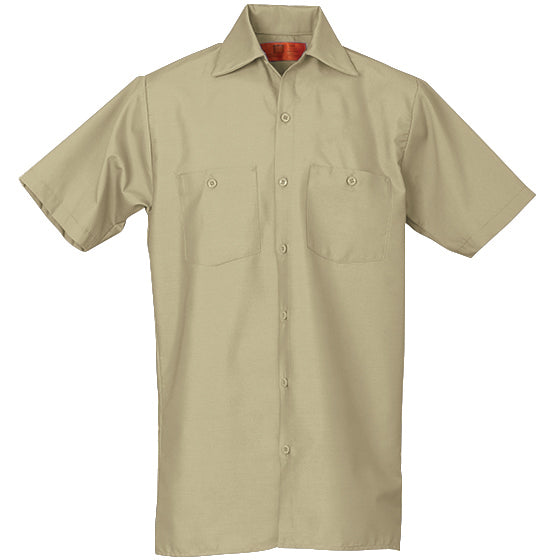 REED SOFT TOUCH POPLIN WORK SHIRT SHORT SLEEVE LIGHT TAN SS639