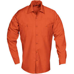 Reed SoftTouch POPLIN WORK SHIRT LONG SLEEVE ORANGE