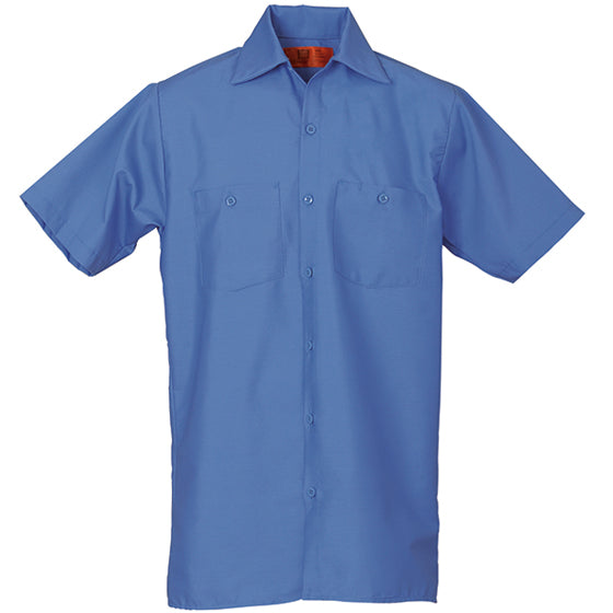 REED SOFT TOUCH POPLIN WORK SHIRT SHORT SLEEVE POSTAL BLUE SS622