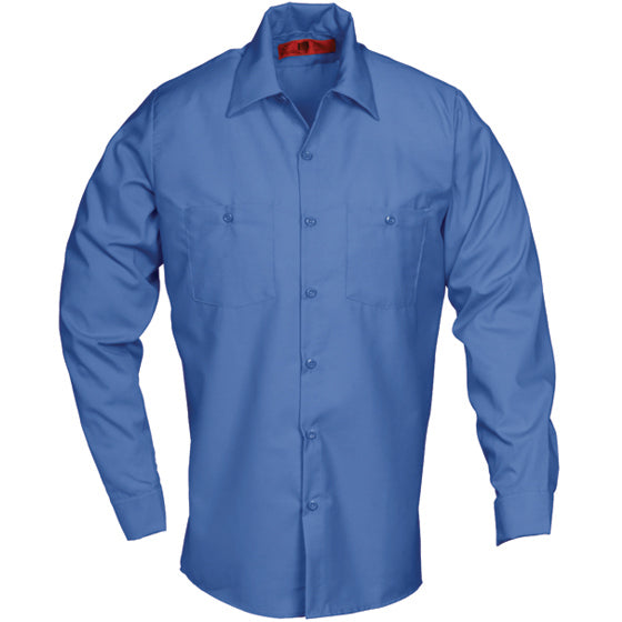 Reed SoftTouch POPLIN WORK SHIRT LONG SLEEVE POSTAL BLUE LS6222