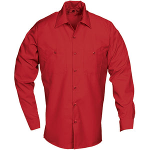 Reed SoftTouch POPLIN WORK SHIRT LONG SLEEVE RED LS224
