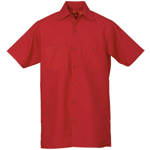 REED SOFT TOUCH POPLIN WORK SHIRT SHORT SLEEVE RED SS24
