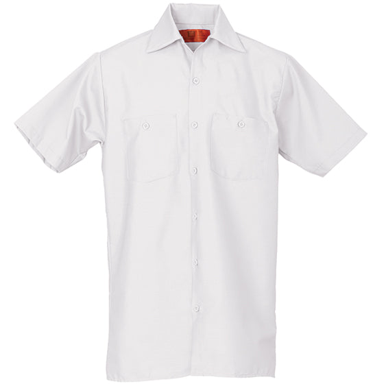 REED SOFT TOUCH POPLIN WORK SHIRT SHORT SLEEVE WHITE SS620
