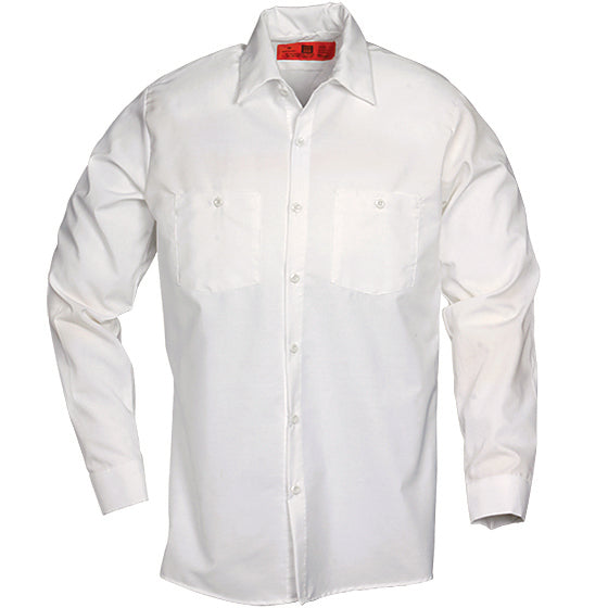 Reed SoftTouch POPLIN WORK SHIRT LONG SLEEVE WHITE LS6220