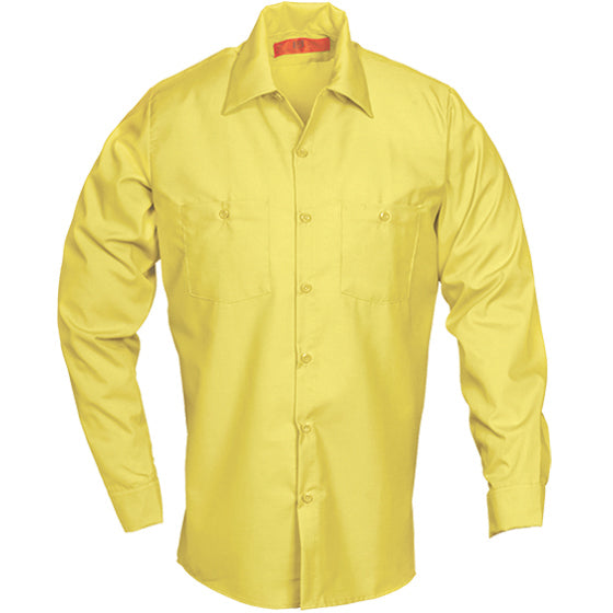 Reed SoftTouch POPLIN WORK SHIRT LONG SLEEVE YELLOW LS225