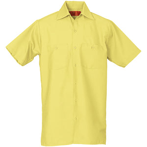 REED SOFT TOUCH POPLIN WORK SHIRT SHORT SLEEVE YELLOW