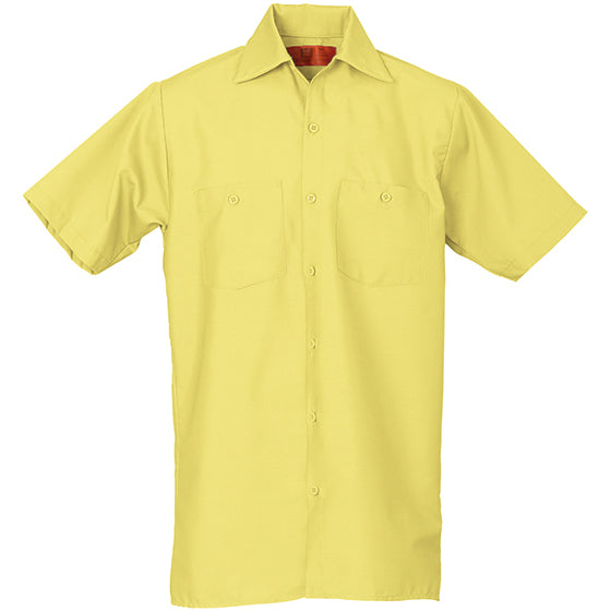 REED SOFT TOUCH POPLIN WORK SHIRT SHORT SLEEVE YELLOW SS25