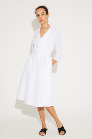 Aegean Linen Wrap Dress