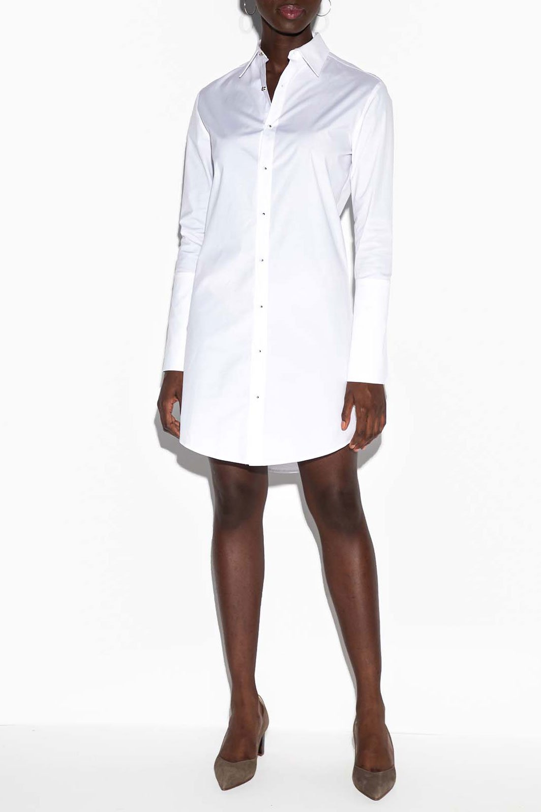 The Husband Shirt Dress with Silver Studs