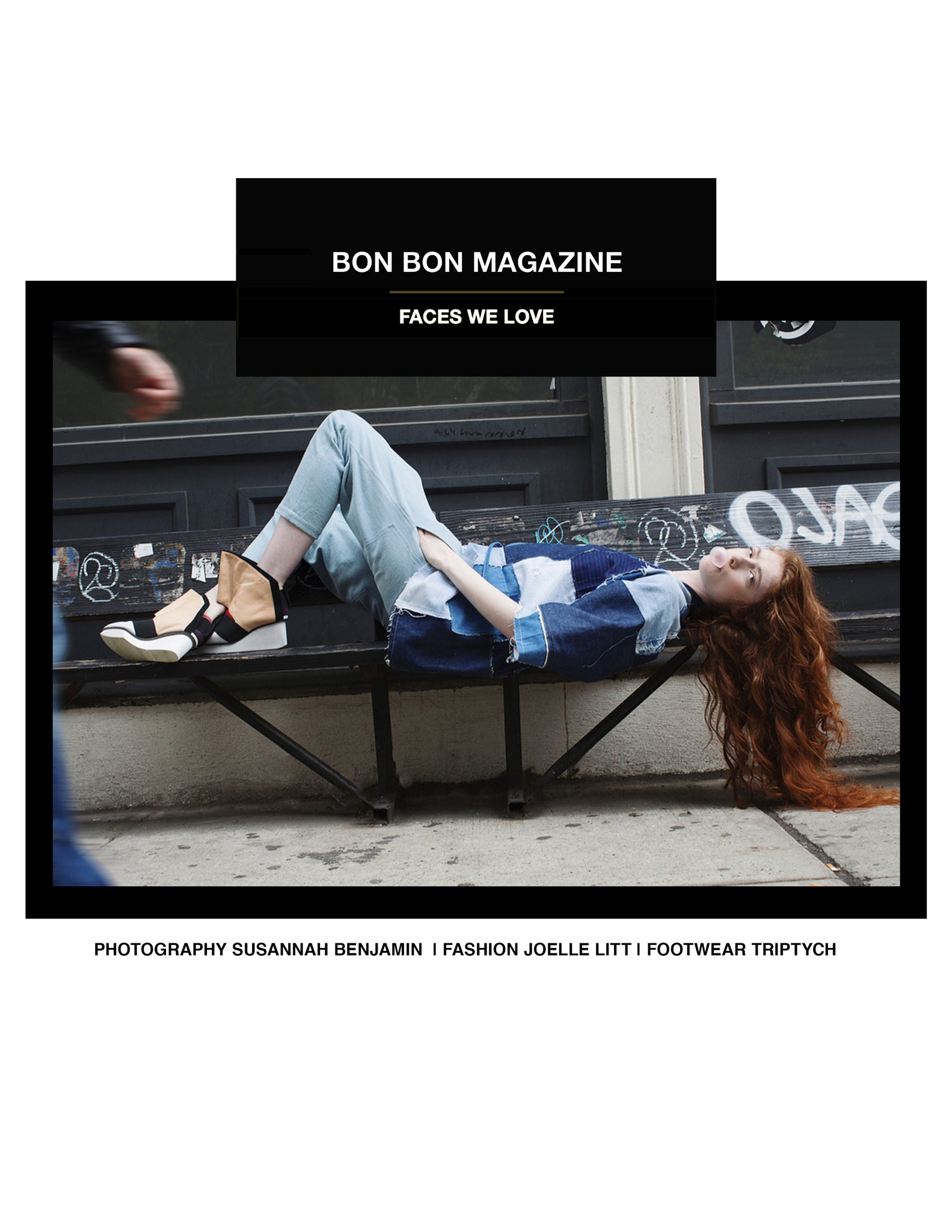 TRIPTYCH IN BON BON MAGAZINE EDITORIAL FACES WE LOVE