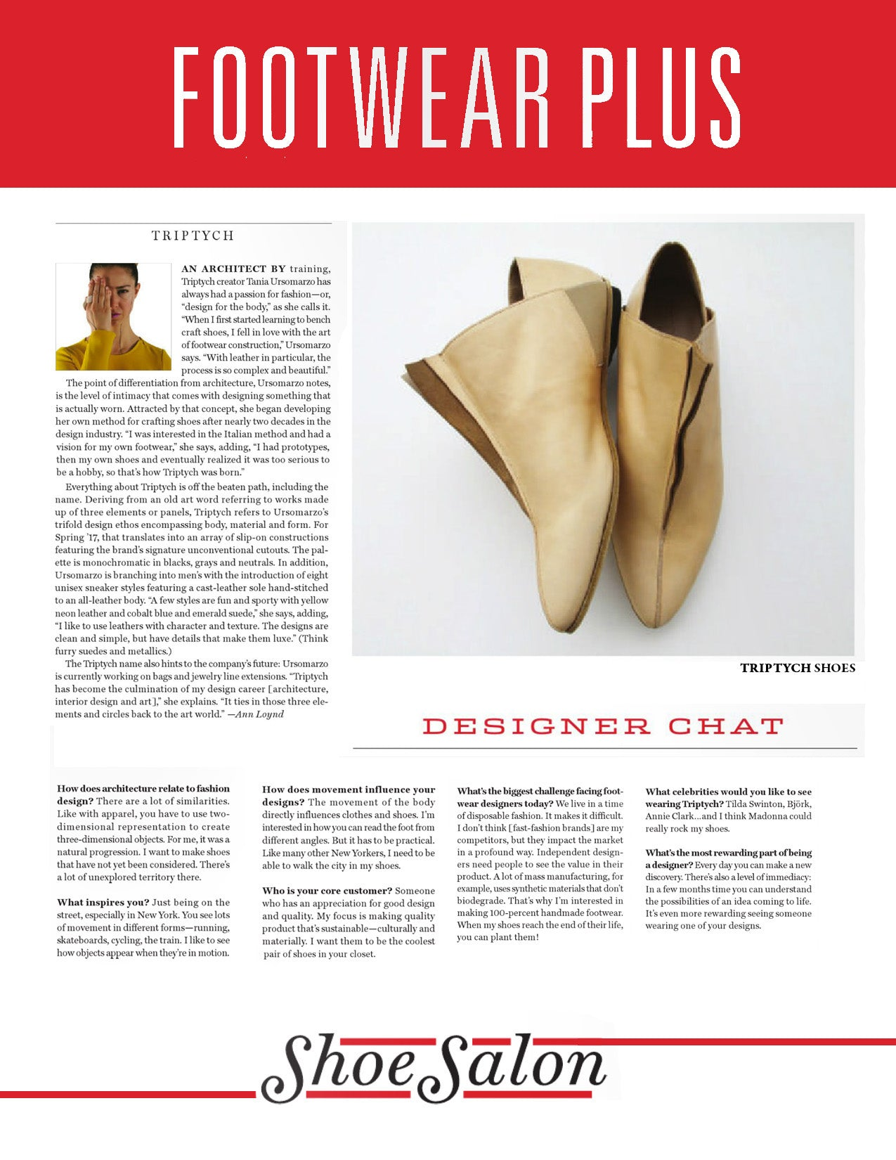 TRIPTYCH DESIGNER CHAT WITH FOOTWEAR PLUS MAGAZINE