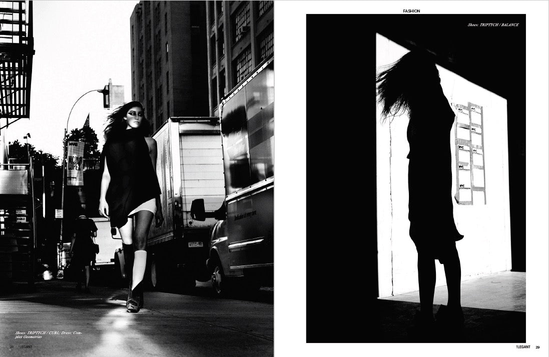 TRIPTYCH FOOTWEAR IN ELEGANT MAG EDITORIAL SOLSTICE
