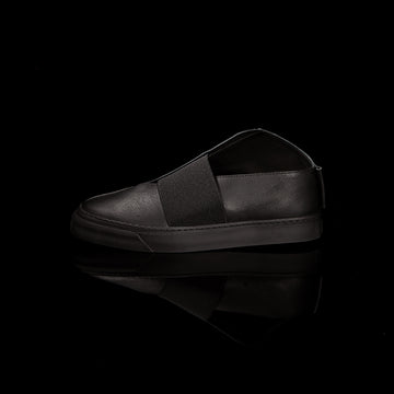 K1 / ALL BLACK / UNISEX LEATHER SNEAKER