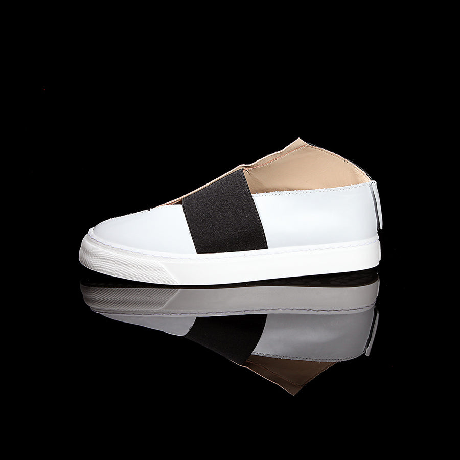 K1 / BLACK/CHALK / UNISEX LEATHER SNEAKER