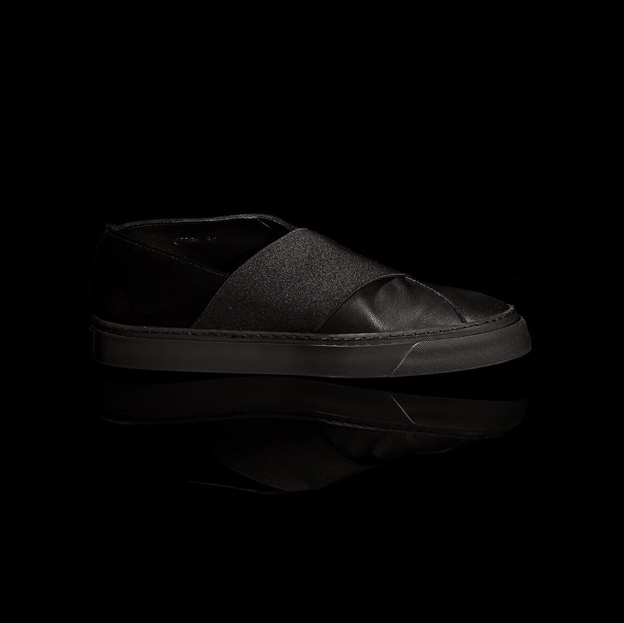 K4 / ALL BLACK / UNISEX LEATHER SNEAKER
