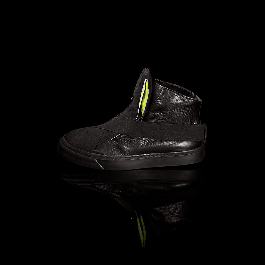 K6 / NEON BLACK / UNISEX LEATHER SNEAKER