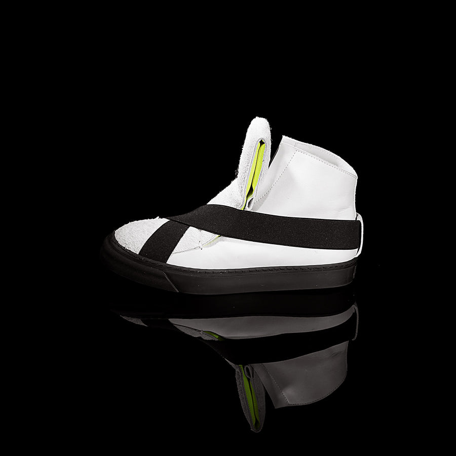 K6 / NEON WHITE / UNISEX LEATHER SNEAKER