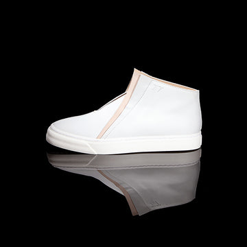 K8 / CHALK / UNISEX LEATHER SNEAKER