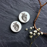 "Anatomical Heart Plugs - 2g (6.5mm) through 1"" (25mm)"