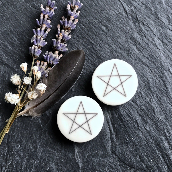 "Pentagram Plugs - 2g (6.5mm) through 1"" (25mm)"