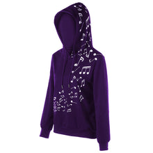 Load image into Gallery viewer, Two Tone Music Note Hoodie - The Read and Shade Store