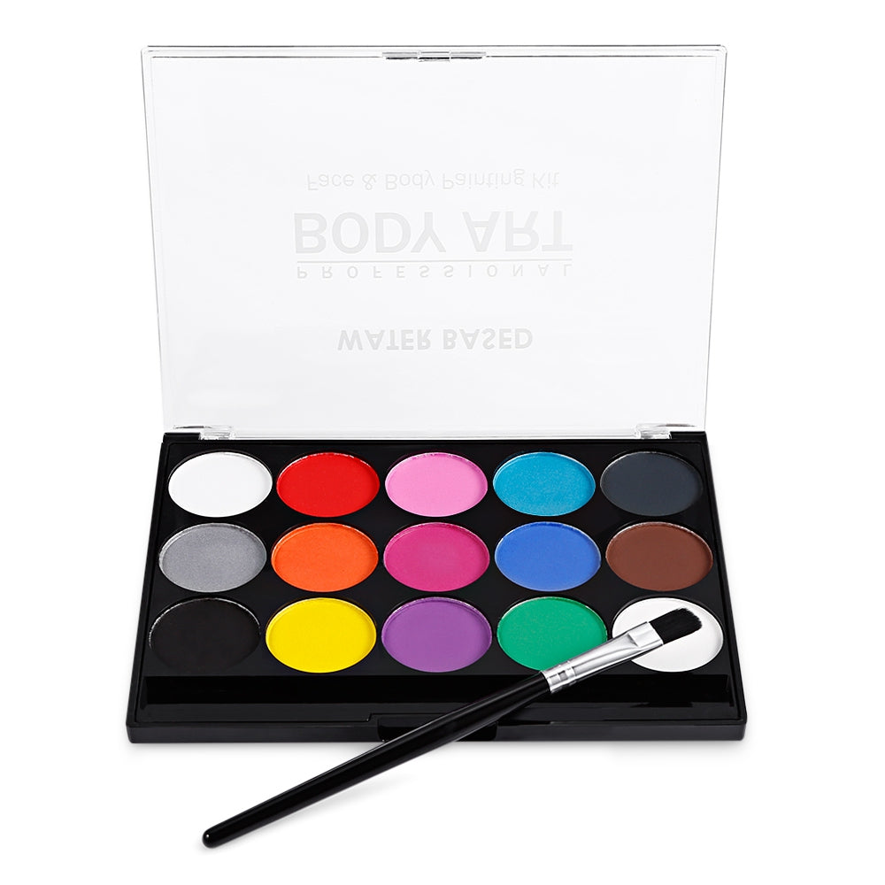 15 Color Body Painting Kit Glitter Eye Shadow Makeup Palette - The Read and Shade Store