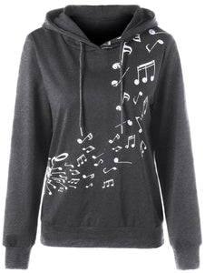 Two Tone Music Note Hoodie - The Read and Shade Store