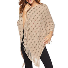 Load image into Gallery viewer, Beaded Asymmetrical Fringed Cape Sweater - The Read and Shade Store