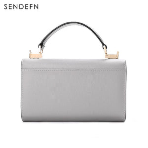 Sendefn Handbag Women Leather Handbags Mini Tote Bag With Zipper Messenger - The Read and Shade Store