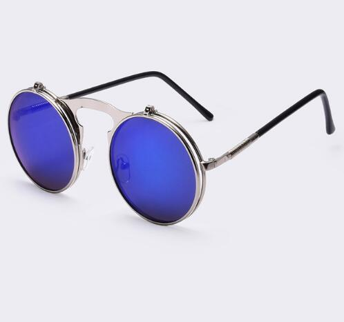 Round Designer Steam Punk Men Sunglasses - The Read and Shade Store