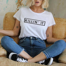 Load image into Gallery viewer, New Fashion Letters Printed Women Men Casual T Shirts Boy Girls Summer Tees Tops - The Read and Shade Store