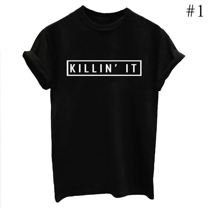 New Fashion Letters Printed Women Men Casual T Shirts Boy Girls Summer Tees Tops - The Read and Shade Store