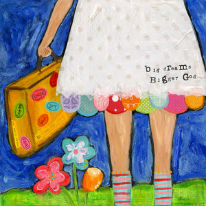 Big Dreams: Brave Girl Canvas Print, Gallery Wrapped with 3/4 inch depth and finished Black sides.