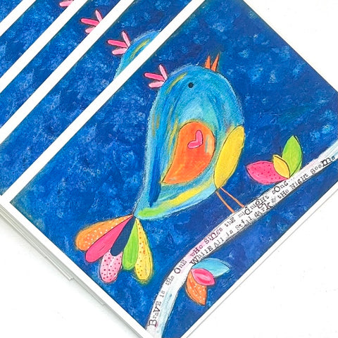 Midnight Brave Bird Note Card