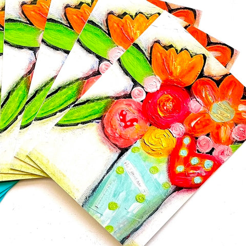Colorful Floral Bouquet Note card