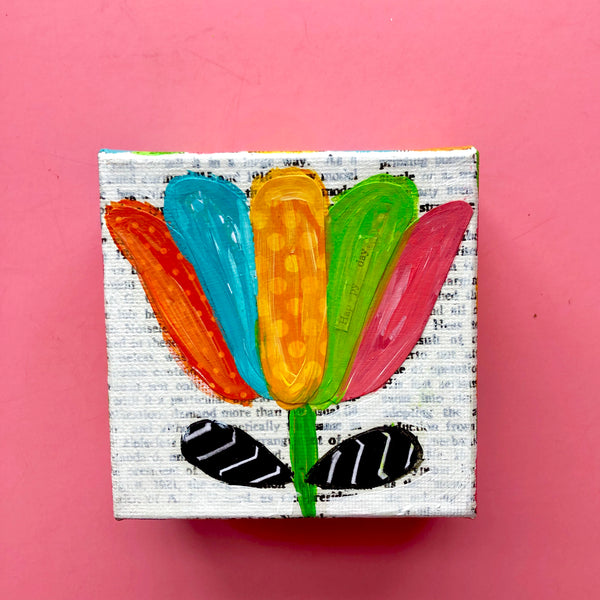 Colorful Mini Tulip painting