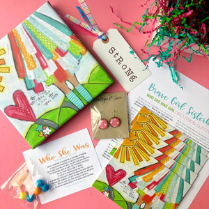 Brave Girl Sisterhood Subscription Box - May edition. Girls Bible Study Monthly gift box.
