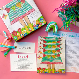 Brave Girl Sisterhood Subscription Box: November edition. Girls Bible Study Monthly gift box.