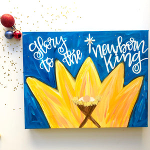 Christmas Nativity Painting - Glory to the Newborn King