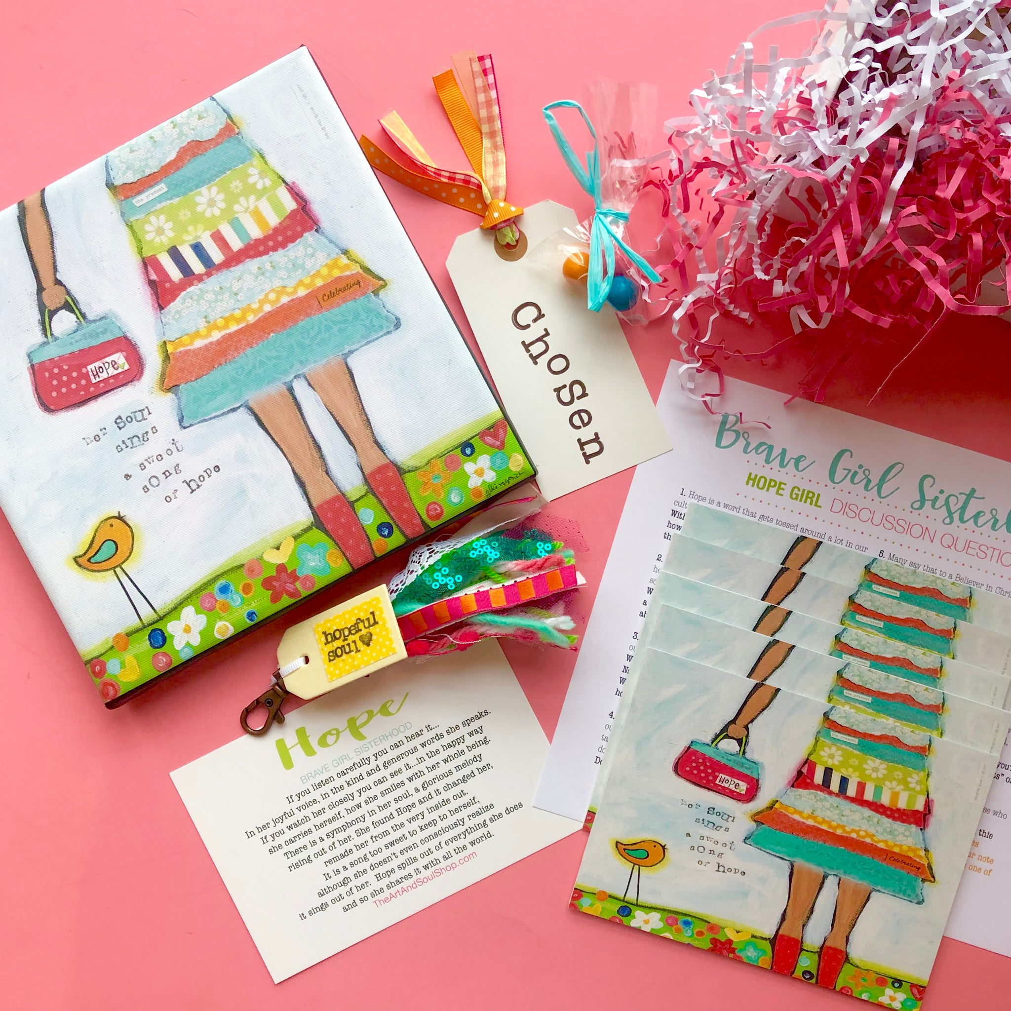 Brave Girl Sisterhood Subscription Box: January edition. Girls Bible Study Monthly gift box.