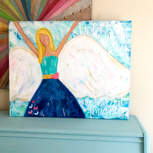 Holy Holy Holy Colorful Angel Art || Original Painting on Canvas || 24x36 inches