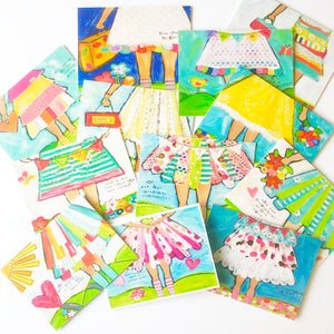 Brave Girls Note Card Set of 12. Blank Note Cards Stationery Set with envelopes.