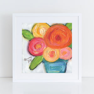 Choose Joy flower bouquet art print