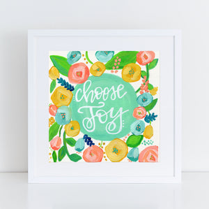 Art print: Choose Joy Floral