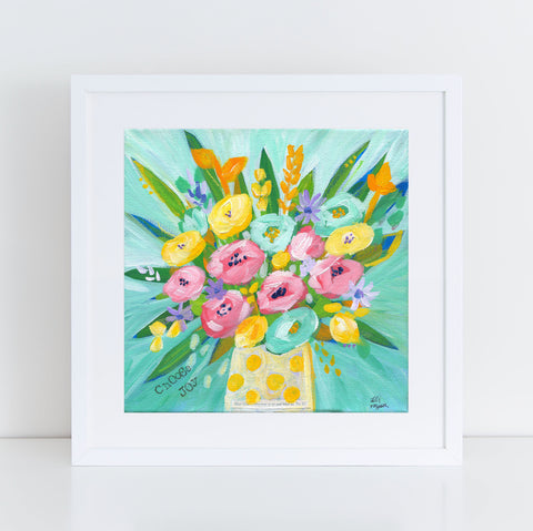 Art print: Choose Joy Bouquet