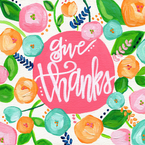 Art print: Give Thanks