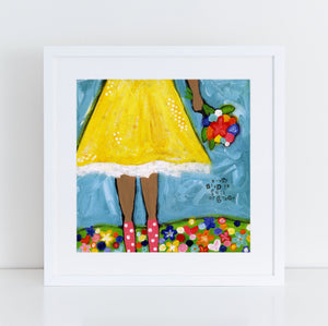 Grace Brave Girl Art Print with darker skin tone